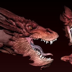 03.jpg Download OBJ file Smaug Head • 3D printer template, Dynastinae