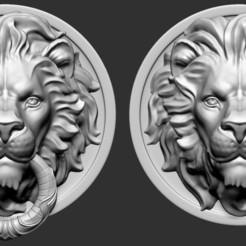01.jpg Download OBJ file  Lion Head • 3D printer object, Dynastinae