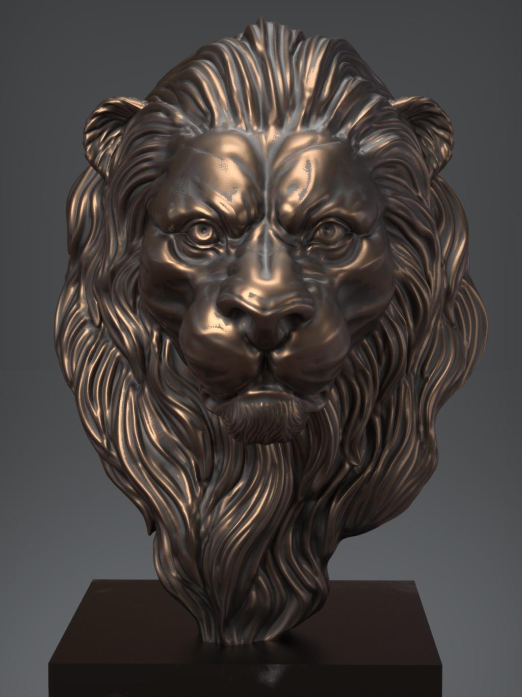 Lion01.jpg Download free OBJ file Lion • 3D printing model, Dynastinae