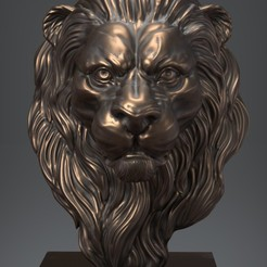Download free 3D printing templates Lion, Albedo