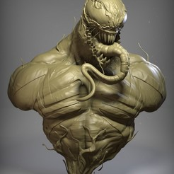 Download 3D printing designs Venom, Pisces-Art
