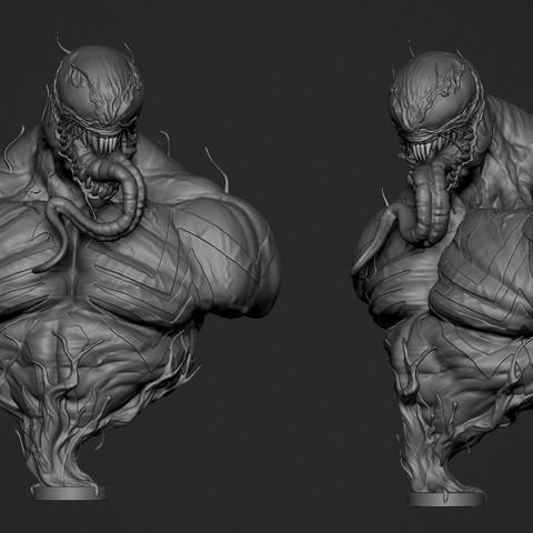 Venom_Render01.jpg Download OBJ file Venom • 3D printing object, Dynastinae