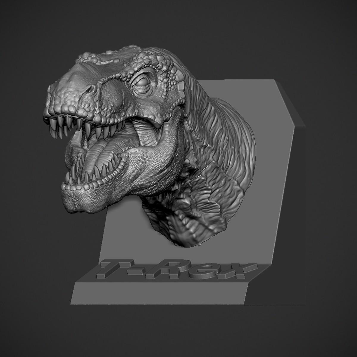 Z04.jpg Download OBJ file T-rex Tyrannosaurus • 3D printable object, Dynastinae