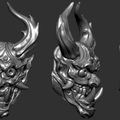 Download 3D printing models Hannya 01, Albedo