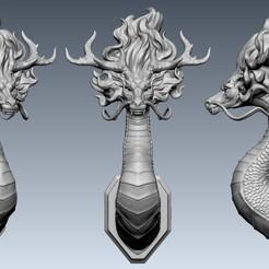 01.jpg Descargar archivo OBJ gratis Retrato del Dragón • Plan para la impresión en 3D, Dynastinae