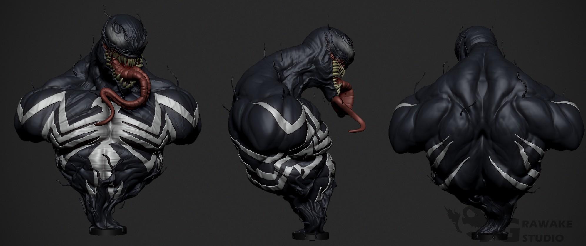 Venom_Render.jpg Download OBJ file Venom • 3D printing object, Dynastinae
