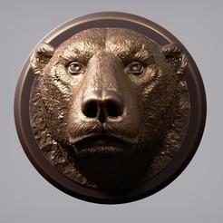 Polar Bear Head (1).jpg Télécharger fichier OBJ Tête d'ours polaire • Plan imprimable en 3D, Dynastinae