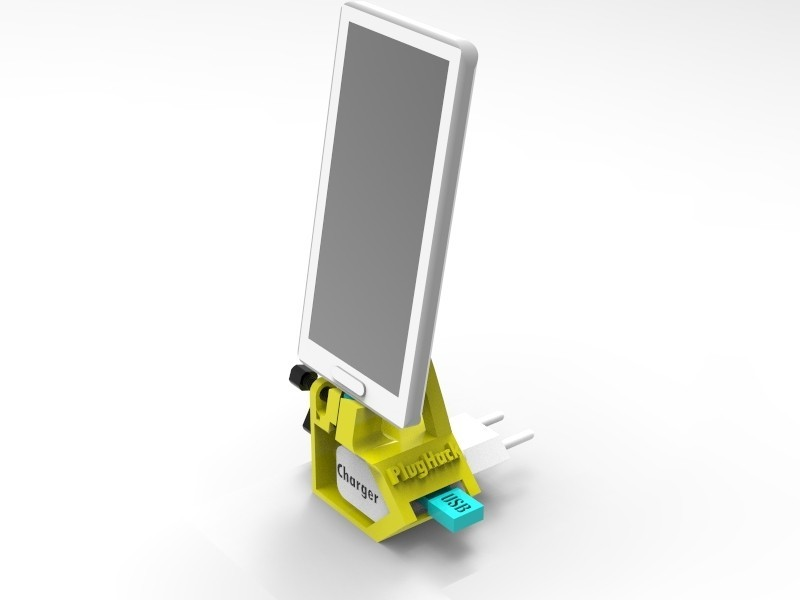 key818.1.jpg Download free STL file PlugHack | Mini DockingStation | Smartphone • 3D printer design, StefanP