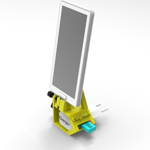 Free 3D print files PlugHack | Mini DockingStation | Smartphone, StefanP