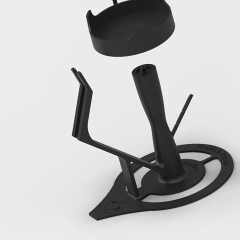 key196.51.jpg Download free STL file French Press holder  • 3D printing object, StefanP