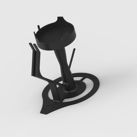 key196.48.jpg Download free STL file French Press holder  • 3D printing object, StefanP