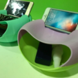 Descargar Modelos 3D para imprimir gratis Snackie-Versátil snackbowl + trashcan + phonestand, michaeledi