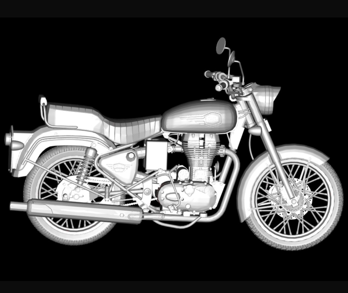 Capture d'écran 2017-11-14 à 17.03.34.png Download free STL file Motorcycle Royal Enfield Bullet 500 2016 • 3D printing object, michaeledi