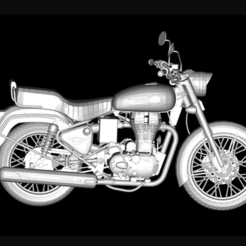 Free STL file Motorcycle Royal Enfield Bullet 500 2016, michaeledi
