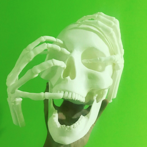 Modelos 3D gratis Melting Gold Skull Sculpt de Black Sail Season 4, michaeledi