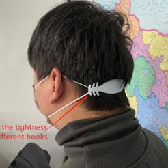 Descargar Modelos 3D para imprimir gratis Banda conectora de extensión ajustable para máscaras faciales, michaeledi