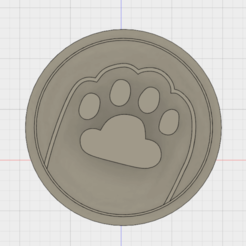 Diseños 3D Pusheen Paw Cookie Cutter, FewDey