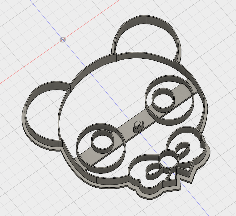 osito 1.png Download STL file Cute Bear COOKIE CUTTER • 3D printable design, FewDey