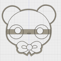 Archivos STL Cute Bear COOKIE CUTTER, FewDey