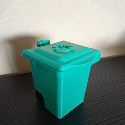 Free 3d model trash can piggy bank, Delli98
