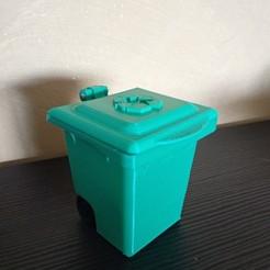 Free 3D model trash can piggy bank, Delli98