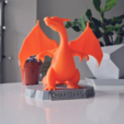 Free 3d printer files Charizard Statue with Stand, R3DPrinting