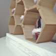 Free 3D printer files Stackable Honeycomb Display, R3DPrinting