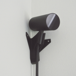 Free 3D print files Corner Oculus Rift Sensor Mount - with nail eyelets, R3DPrinting