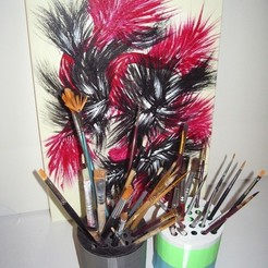 Free STL Brush Jar, Nanard