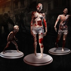 Download free 3D model Zombie x3 STL, Snack95