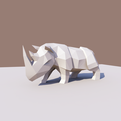 Download 3D printing models Low Poly Rhinoceros, vitascky