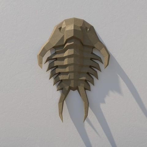 3D printer models Trilobites low poly, vitascky