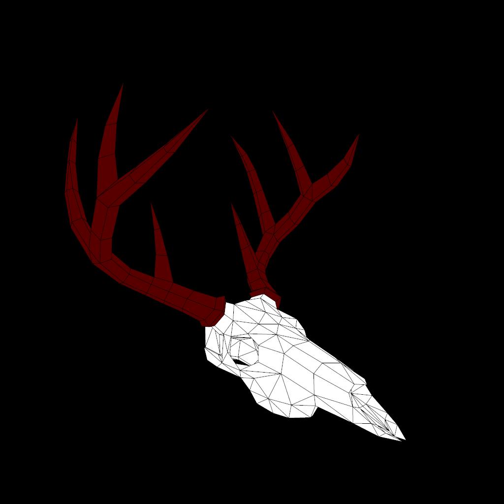 render1.png Download OBJ file Low poly Deer Skull • 3D printer model, vitascky