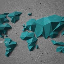 Impresiones 3D Decoración mural del mapa del mundo en 3D, vitascky