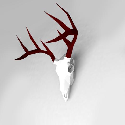 AWFVW.png Download OBJ file Low poly Deer Skull • 3D printer model, vitascky