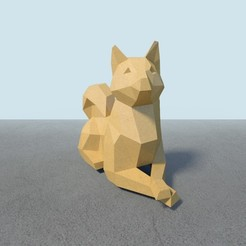 Download 3D printing models Shiba, Doge low poly, vitascky