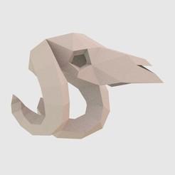 Télécharger fichier 3D Bas poly Crâne de bélier, vitascky