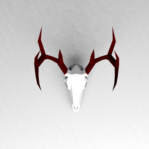 STL file Low poly Deer Skull, vitascky