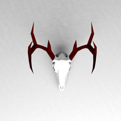 Download 3D printer templates Low poly Deer Skull, vitascky