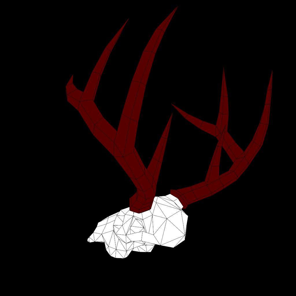 render2.png Download OBJ file Low poly Deer Skull • 3D printer model, vitascky