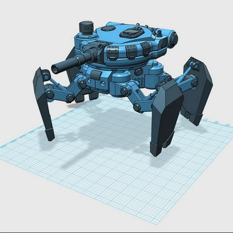 Download free STL files Scifi Spider Tank, Hernando_Rolla