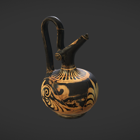 Free 3D file Aryballisc vase with red figures, MSR