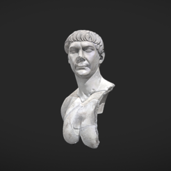Free STL files Bust of Trajan, MSR