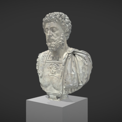 Download free STL files Battleship bust of Marc Aurelius aged, MSR