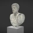 Download free STL files Battleship bust of Marc Aurelius aged, MSR