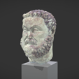 Free 3D print files Head of Maximian Hercules, MSR