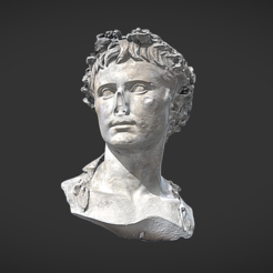 Download free 3D printing templates Bust of Auguste crowned with oak, MSR
