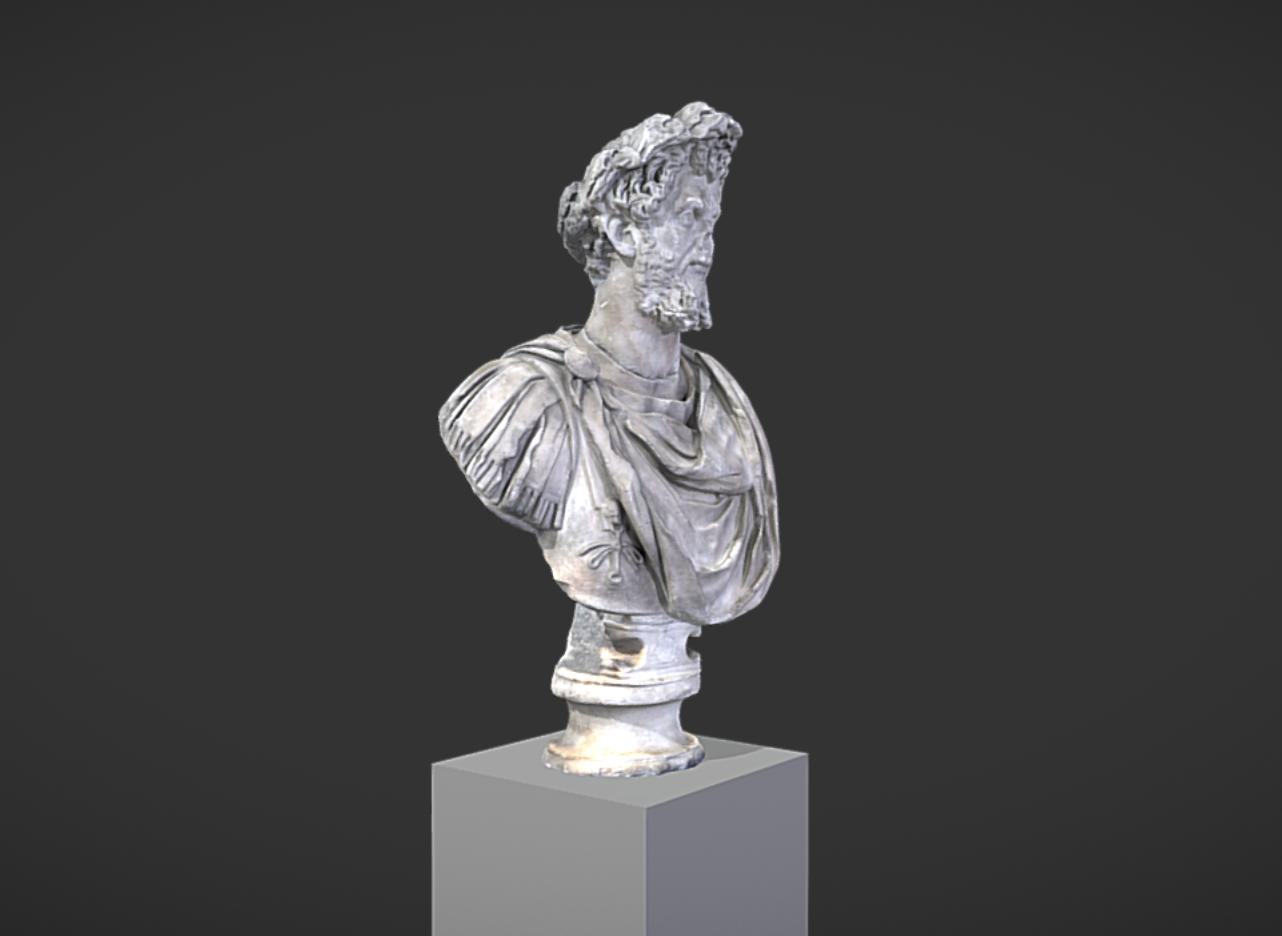 Capture d'écran 2017-11-13 à 14.41.16.png Download free OBJ file Bust of Septimus Severus Crowned with Oak • 3D print object, MSR