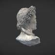 Free 3d printer model Bust of Auguste crowned with oak, MSR