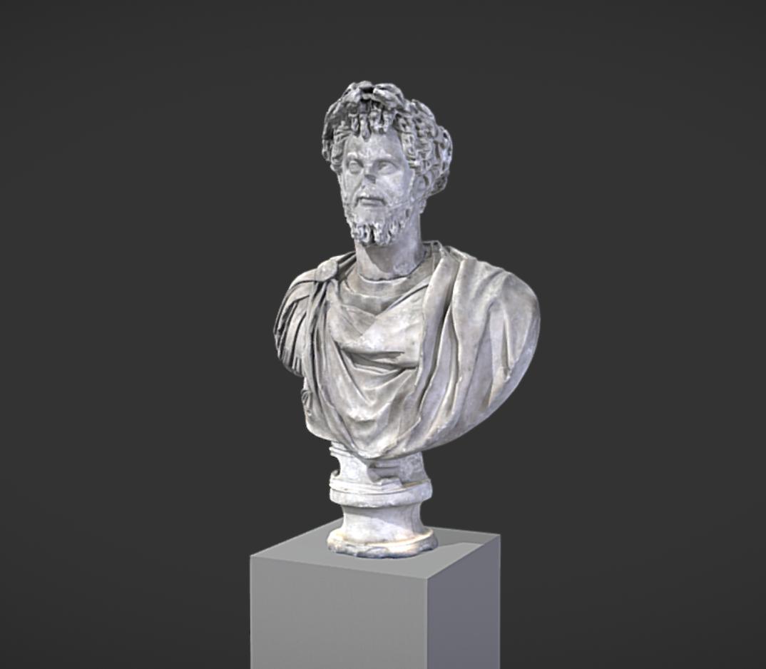 Capture d'écran 2017-11-13 à 14.41.06.png Download free OBJ file Bust of Septimus Severus Crowned with Oak • 3D print object, MSR